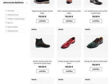 Prestashop online shoe store