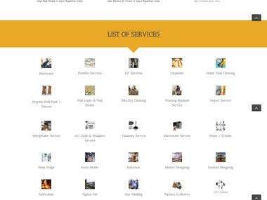 Home Service Providing website