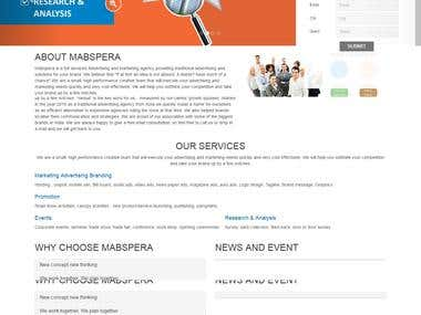Advertising and Marketing agency website