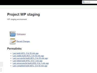 Wordpress staging production automation