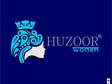 www.huzoorwomen.com logo design