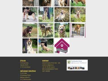Dog shelter website