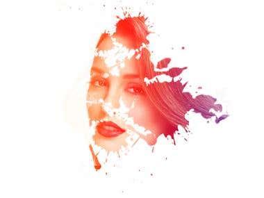 Beautiful woman Photo manipulation