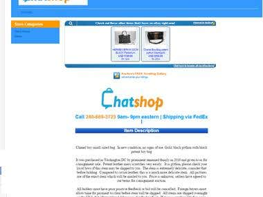 Design Ebay Template & Store ChatShop