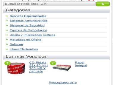 Corrito de Compras online / Pasarella de Pago.