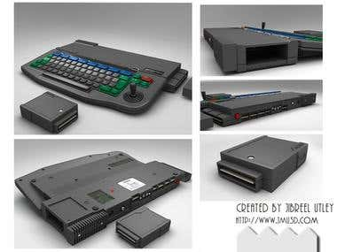 3d render of a Retro Video game Console