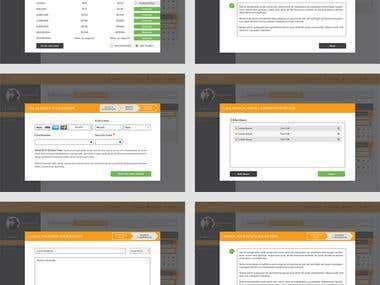 Design UI for After Login Dashboard - Designed in Photoshop