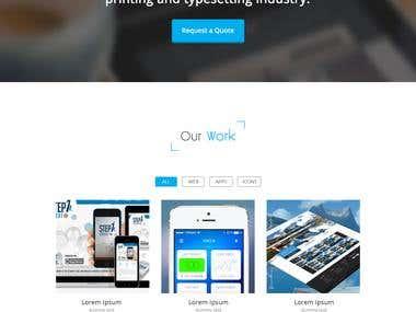 Website Mockup for tiyyar.com - Designed in Photoshop