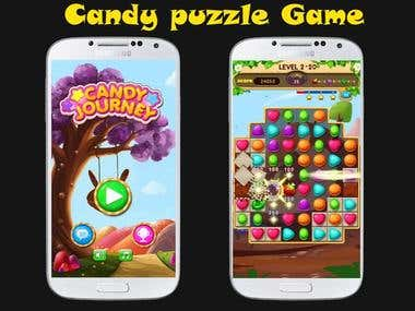 Candy puzzle mobile app