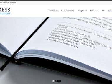 Express Abschlussarbeit Ecommerce Website