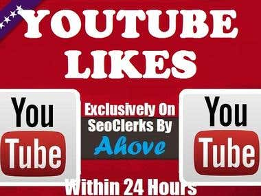 Get Instant 500 Safe YouTube Likes In Your Video
