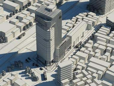 3D Models Cities for Games and Movies