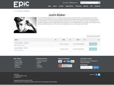 Online ticket selling website