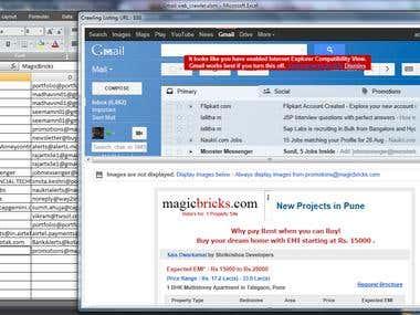 Gmail Web Crawler