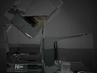 glassware still life