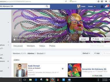 Add members in FB group & regular maintance
