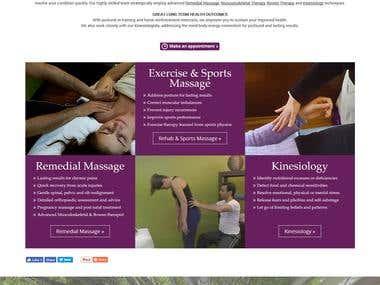 @Ravel Therapies- Wordpress Site for Massage Center@