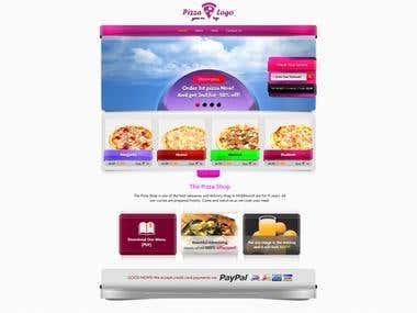 Website design for food company