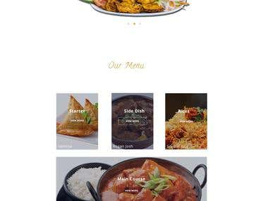 The Indian Restaurant Website