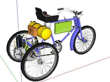3D bicycle Model- Google Sketchup