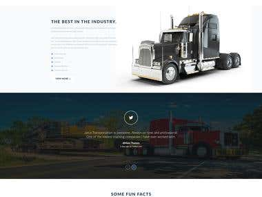 Jarco Transportation- Website Example