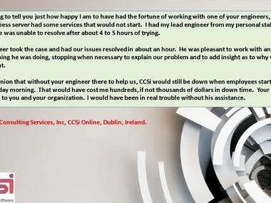 CCSi ONLINE-Dublin, Ireland