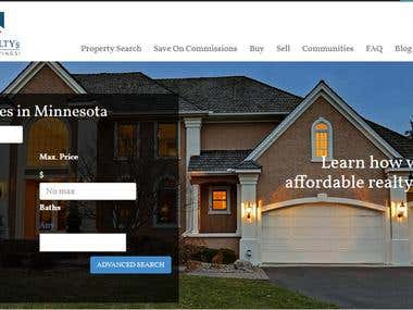 Wordpress website for US based Real Estate Client