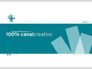 Webdesign for Canal Creativo Spain