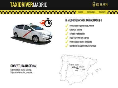 Design and development for Taxidrivermadrid.com website