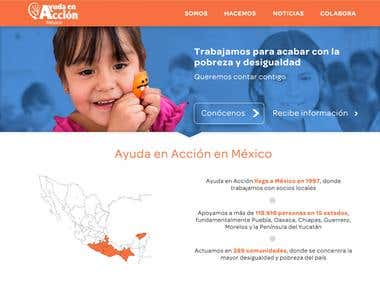 Web design and development for AyudaenAcción website.