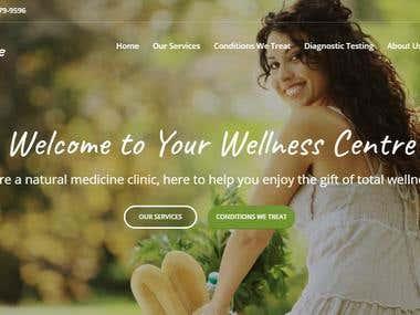 Wellness center Web Site - www.yourwellnesscentre.com.au