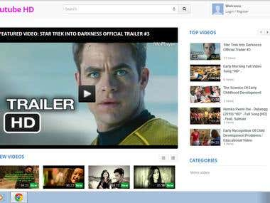 Youtube Like Website