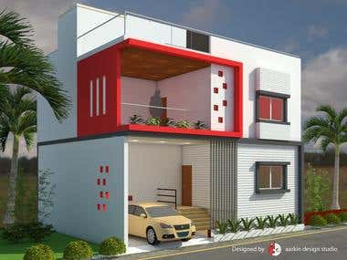 FREELANCED PROJECT - G+1 BUNGALOW @  BEED, MAHARASHTRA
