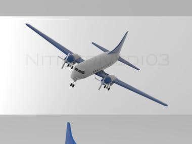 Low-poly plane model