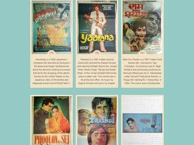 Vintage movies posters web portal | Static Website