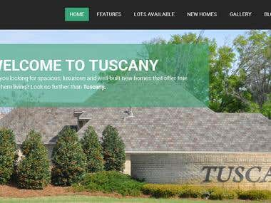 Alex Homes / Tuscany Manor Real Estate Website