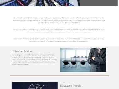 Website Development for Financial Solutions Professional