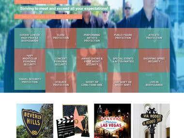 Celebrity Bodyguard Website