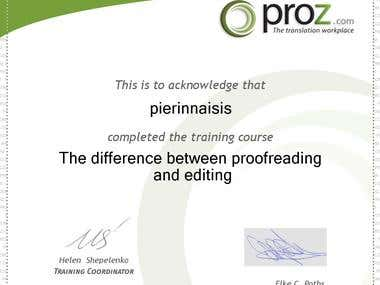 Proofreading-editing