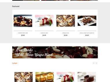 Online Cafe shop In Opencart