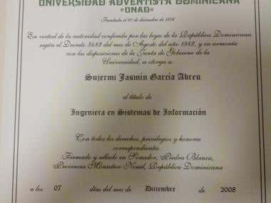 Certificate and degree