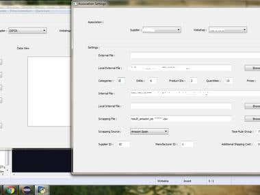 Webshop sync