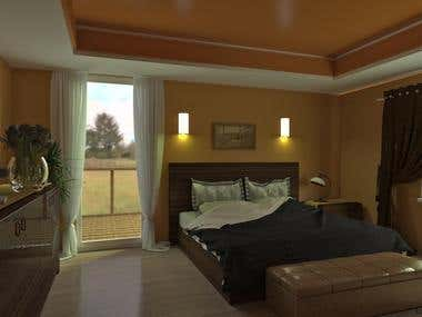Bedroom - 3d interior visualization