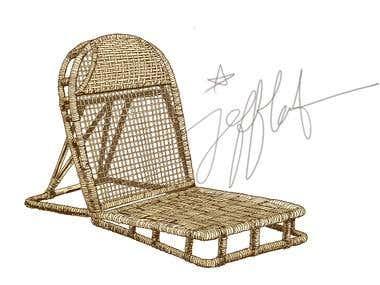 Rattan Chair Illustration