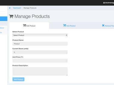 Web Application for Retail Business