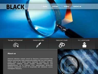 Animated Website HTML5 blackcore.aymanhabli.com