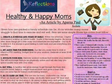 Healthy and Happy Moms