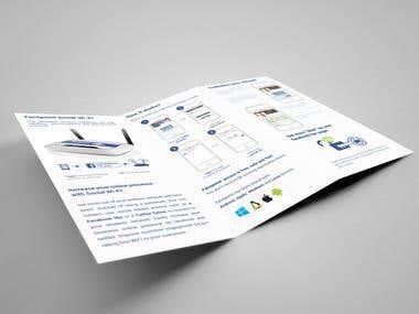 Advertisement brochure design