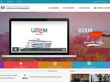 UZEM Web Page