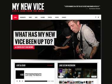 Custom Designed Wordpress Band Site